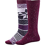 Alpine Design Girls' Snow Sport Socks - 2 Pack