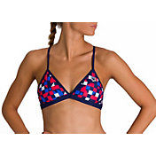 arena Women's Red USA Tie Back Bikini Top