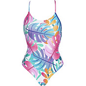 arena Women's Twist Back Reversible One Piece Swimsuit