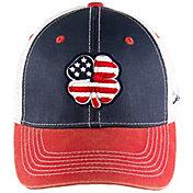 Black Clover Men's USA Flag Two-Tone Vintage Golf Hat
