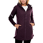 Be Boundless Women's Quilted Melange Knit Hooded Jacket