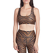 Betsey Johnson Women's Tiger Print Racerback Sports Bra