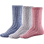 CALIA by Carrie Underwood Women's Lifestyle Crew Socks - 3 Pack