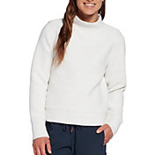 CALIA by Carrie Underwood Women's Cloud Mock Neck Pullover Sweater (Regular and Plus)