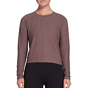 CALIA by Carrie Underwood Women's Diamond Mesh Long Sleeve Shirt (Regular and Plus)