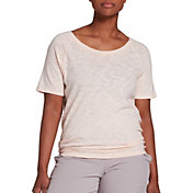 CALIA by Carrie Underwood Women's Flow Keyhole Tieback T-Shirt (Regular and Plus)