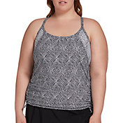 CALIA by Carrie Underwood Women's Plus Size Ruched Tankini Top