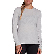 CALIA by Carrie Underwood Women's Everyday Crewneck Long Sleeve Shirt (Regular and Plus)