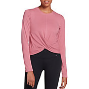CALIA by Carrie Underwood Women's Wrap Front Long Sleeve Shirt (Regular and Plus)