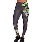 CALIA by Carrie Underwood Women's Essential High Rise Placed Print 7/8 Leggings (Regular and Plus)