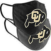 Colosseum Adult Colorado Buffaloes 2-Pack Face Coverings