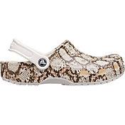 Crocs Adult Classic Snake Print Clogs