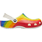 Crocs Adult Classic Rainbow Stripe Clogs