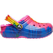 Crocs Kids' Classic Tie Dye Lined Clogs