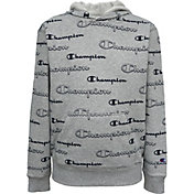 Champion Boys' AOP Shadow Script Hoodie