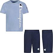 Champion Little Boys' Vertical Script T-Shirt and Shorts Set