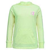 Champion Girls' Jersey Hooded Long Sleeve Shirt