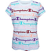 Champion Girls' Layered Print Script T-Shirt