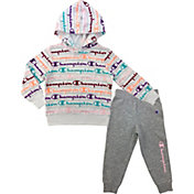 Champion Girls' AOP Script Fleece Hoodie and Joggers Set