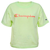 Champion Girls' Solid Boxy T-Shirt