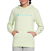 Champion Girls' Solid Raglan Fleece Hoodie