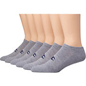 Champion Men's No Show Socks 6-pack