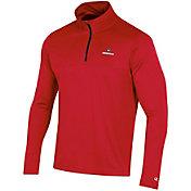 Champion Men's Georgia Bulldogs Red Quarter-Zip Performance Shirt