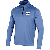 Champion Men's North Carolina Tar Heels Quarter-Zip Performance Carolina Blue Shirt
