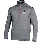 Champion Men's South Carolina Gamecocks Grey Quarter-Zip Performance Shirt