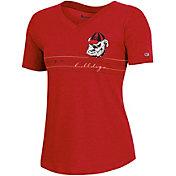 Champion Women's Georgia Bulldogs Red V-Neck T-Shirt