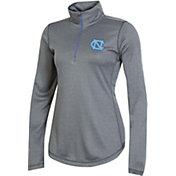 Champion Women's North Carolina Tar Heels Grey Quarter-Zip Performance Shirt