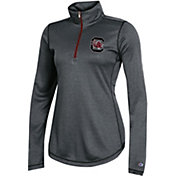 Champion Women's South Carolina Gamecocks Grey Quarter-Zip Performance Shirt