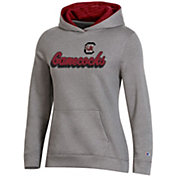 Champion Women's South Carolina Gamecocks Grey Pullover Hoodie
