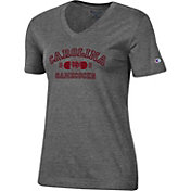 Champion Women's South Carolina Gamecocks Grey University V-Neck T-Shirt