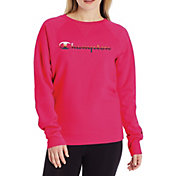 Champion Women's Powerblend Graphic Crew Pullover