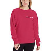 Champion Women's Powerblend Left Chest Logo Crew Sweatshirt