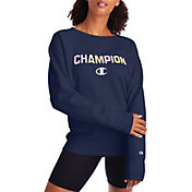 Champion Women's Powerblend Boyfriend Crew Pullover