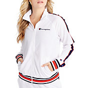 Champion Women's Script Logo Full-Zip Track Jacket