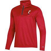 Champion Youth Cincinnati Bearcats Red Quarter-Zip Performance Shirt
