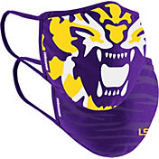 Colosseum Adult LSU Tigers 2-Pack Face Coverings