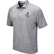 Colosseum Men's Alabama Crimson Tide Grey Wedge Polo