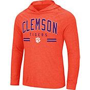 Colosseum Men's Clemson Tigers Orange Jenkins Hooded Long Sleeve T-Shirt