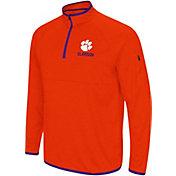 Colosseum Men's Clemson Tigers Orange Rival Quarter-Zip Shirt