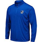 Colosseum Men's Creighton Bluejays Blue Loggerhead Quarter-Zip Shirt