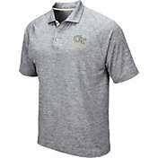 Colosseum Men's Georgia Tech Yellow Jackets Grey Wedge Polo