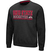 Colosseum Men's Ohio State Buckeyes Rally Crewneck Black Sweatshirt