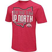 Colosseum Men's Ohio State Buckeyes Scarlet Dual Blend Football T-Shirt