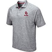 Colosseum Men's Oklahoma Sooners Grey Wedge Polo