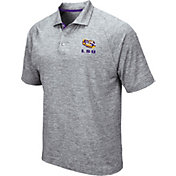 Colosseum Men's LSU Tigers Grey Wedge Polo