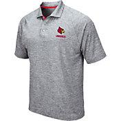 Colosseum Men's Louisville Cardinals Grey Wedge Polo